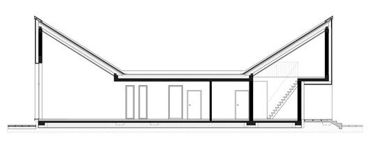 04_A-A_SECTION Forest House in Kuźnica Kiedrzyńska / grupaVERSO Architecture