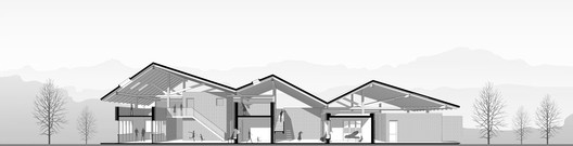 06.Section_Perspective Dongziguan Villagers' Activity Center / gad x line+ studio Architecture