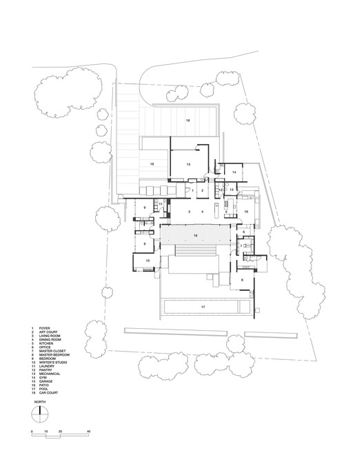 courtyardhouse_plan Mill Valley Courtyard Res / Aidlin Darling Design Architecture