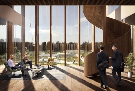 Interior roof park. Image Courtesy of Schmidt Hammer Lassen