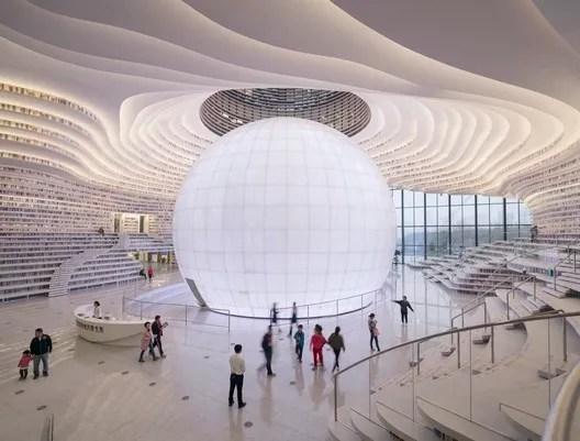 Tianjin Binhai Library / MVRDV + Tianjin Urban Planning and Design Institute. Image © Osip van Duivenbode
