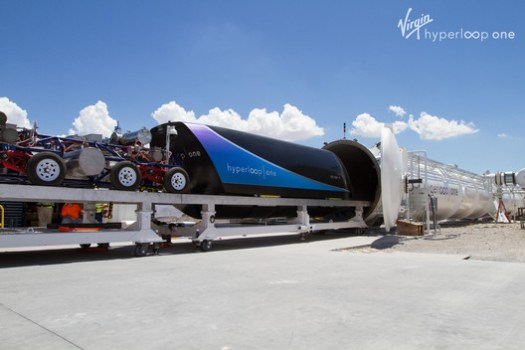 Virgin Hyperloop One. Image Courtesy of Virgin Hyperloop One