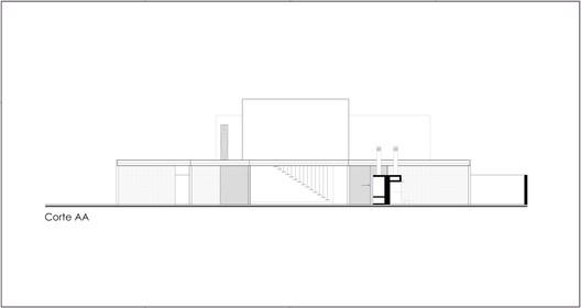 casa_dentro_fora_CORTES_2018.05.04-corte_AA InOut House / Sergio Sampaio Arquitetura + Planejamento Architecture
