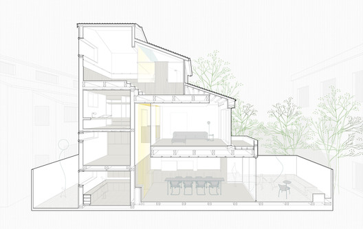 3-section The House with a Tiny Patio / Atelier TAO+C Architecture