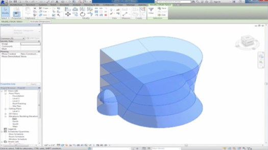 via Mass Building using Autodesk Revit / Udemy.com