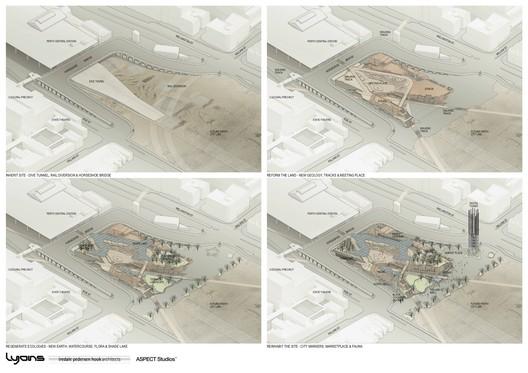 Yagan_Square_Axo_Plans Yagan Square / Lyons Architects + iredale pedersen hook architects + ASPECT Studios Architecture