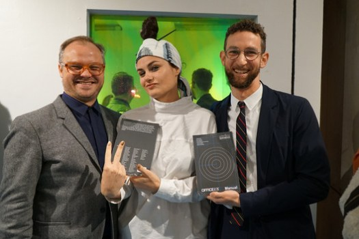 Editors (from left) Carlos Mínguez Carrasco, Eva Franch i Gilabert, Jacob Reidel. Image © <a href='https://www.flickr.com/photos/storefront/24015726777'>Flickr user Storefront for Art and Architecture</a> licensed under <a href='https://creativecommons.org/licenses/by-nc/2.0/'>CC BY-NC 2.0</a>