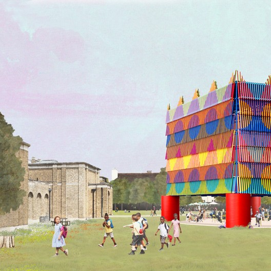 Pavilion in Context. Image Courtesy of Pricegore and Yinka Ilori