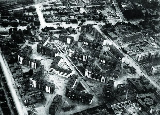 Barrio residencial Shabolovka, Moscú, 1929. Imagen Cortesía de pastvu.ru
