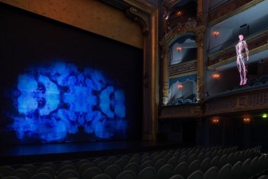 Theatre Graslin featuring Inside by Daniel Firman. Image © Martin Argyroglo and LVAN