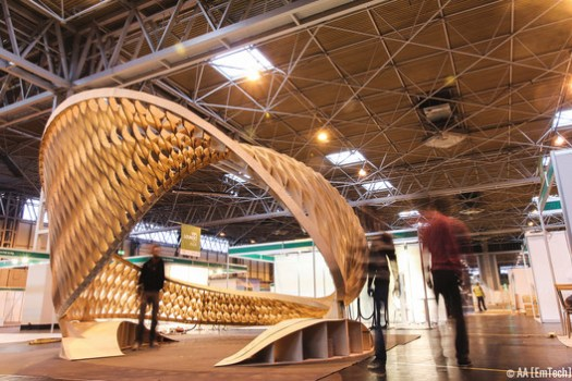 The TWIST installation at Timber Expo, Birmingham NEC.. Image © Patrick Tanhuanco