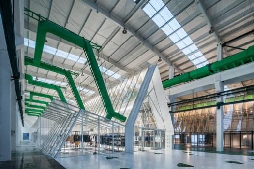 Interior of 'Cotton Lab'. Image © Shengliang Su, Qingshan Wu