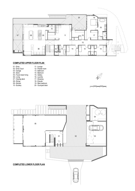 COMPLETED_FLOOR_PLANS Herne Bay Hideaway / Lloyd Hartley Architects Architecture