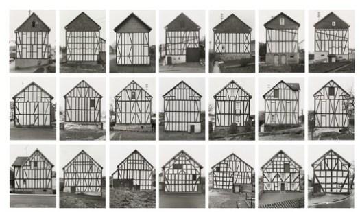 """Bernd Becher, Hilla Becher. Framework Houses, 1959-73. © 2018 Hilla Becher. Credits: MoMA; Gift from Hilla Becher. Under """"Fair Use"""""""