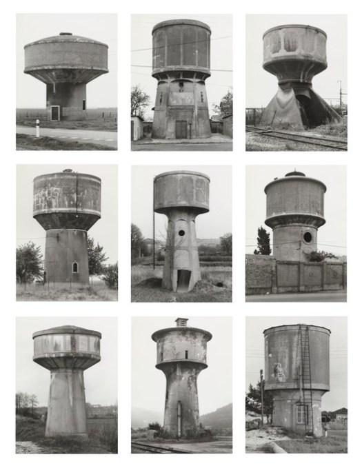 "Bernd Becher, Hilla Becher. Water Towers, 1988. © 2018 Hilla Becher. Credits: MoMA; Gift from Werner and Elaine Dannheisser. Under ""Fair Use"""