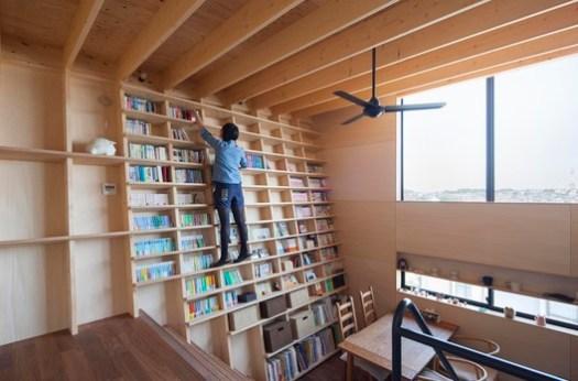 Bookshelf House / Shinsuke Fujii Architects. Image © Tsukui Teruaki