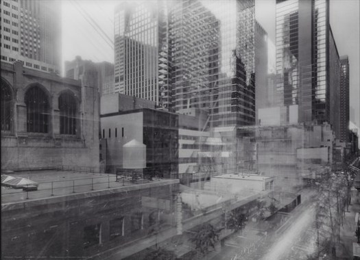 """Michael Wesely. 7 August 2001--7 June 2004 The Museum of Modern Art, New York, 2001-04. © 2018 Artists Rights Society (ARS), New York/VG Bild-Kunst, Bonn. Credits: MoMA. Bought. Under """"Fair Use"""""""