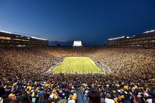 2. Michigan Stadium / Ann Arbor, MI, USA. Image courtesy of flickr user mgoblog. Licensed under CC BY-NC 2.0