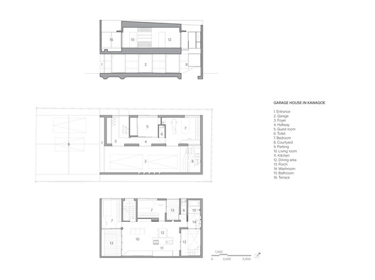 Section and Floor Plans