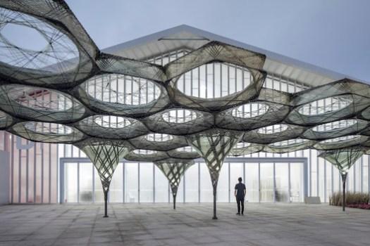 The Elytra Filament Pavilion. Image © Fangfang Tian