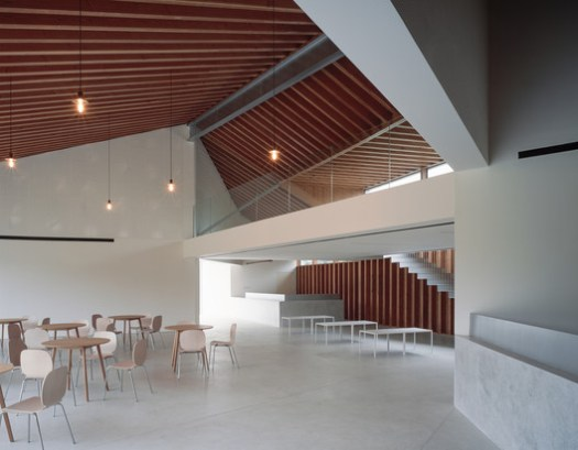 light travels through the full height interior wall. Image © Hao Chen