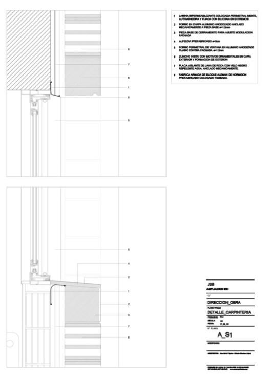 Facade detail school building extension