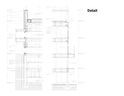 Facade detail Vertical house