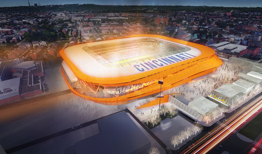 FC Cincinnati. Image Courtesy of Meis Architects