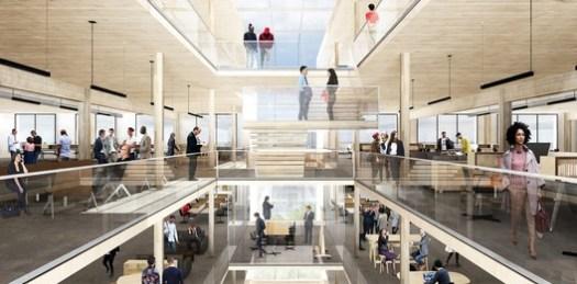 Courtesy of MGA. ImageMGA's proposal for a mass timber building in Newarko