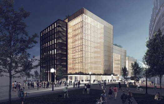 Courtesy of MGA. ImageMGA's proposal for a mass timber building in Newark