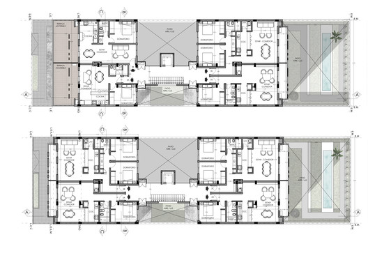 2DO___3ER_PISO NANZER Building / V + Arquitectura Architecture