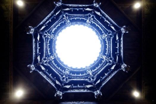 Round atrium ceiling. Image © Wenjie Hu