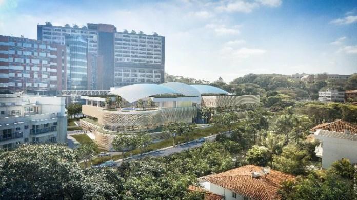 Vista do Campus. Image Cortesia de Safdie Architects