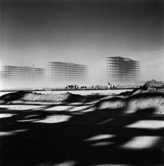 © Marcel Gauthero. ImageConstruction of Brasilia, 1956 .
