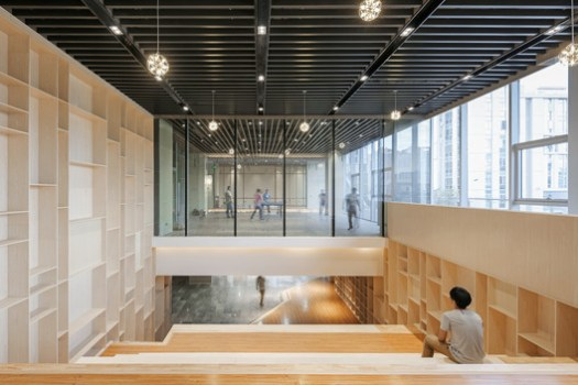 View to the Exhibition Area From the library. Image © Shengliang Su