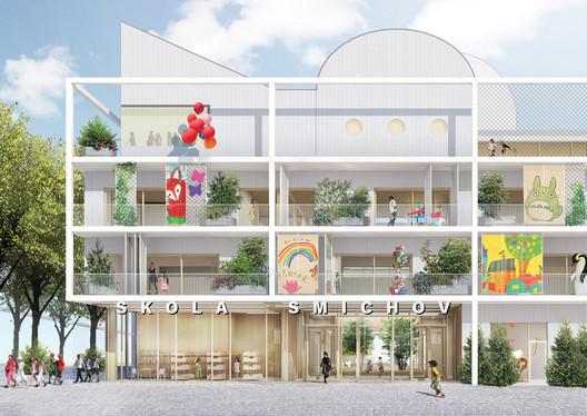 Škola Smíchov / Office Ou. Image via Canadian Architect Magazine