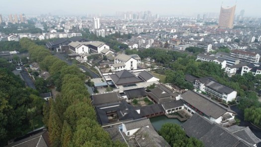 Bird's Eye View of Shaoxing Hotel after Reconstruction. Image © Chenfan Zhang