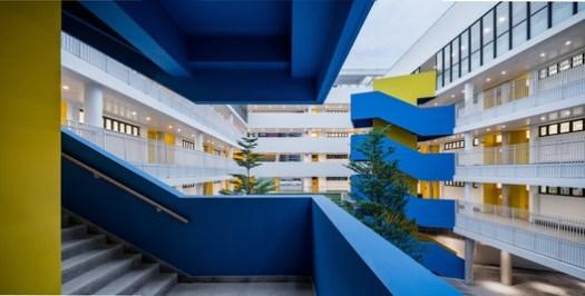 Primary school courtyards. Image © Qingshan Wu