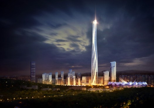 Shenzhen-Hong Kong International Center. Image Courtesy of Adrian Smith + Gordon Gill Architecture