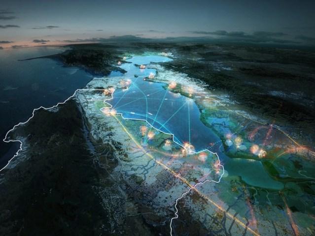 Bay Area Masterplan. Courtesy of MVRDV and HASSELL
