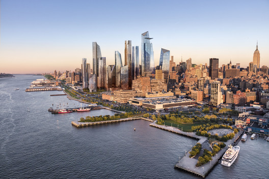 Aerial View of Hudson Yards. Image Courtesy of Related-Oxford