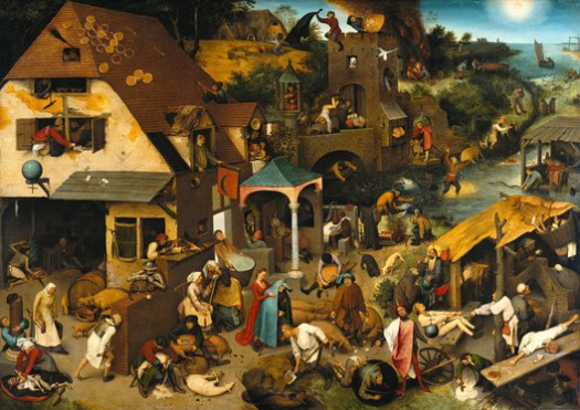 Netherlandish Proverbs, by Pieter Bruegel the Elder, 1559, a photographic reproduction by Google Cultural Institute