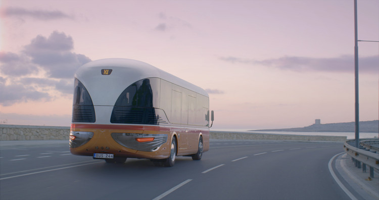Malta Bus Reborn. Image © Stargate Studios on behalf of Mizzi Studio