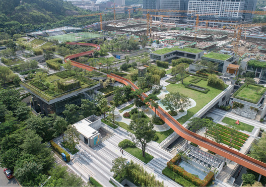Aerial view of Vanke North Green Gallery. Image © Chao Zhang