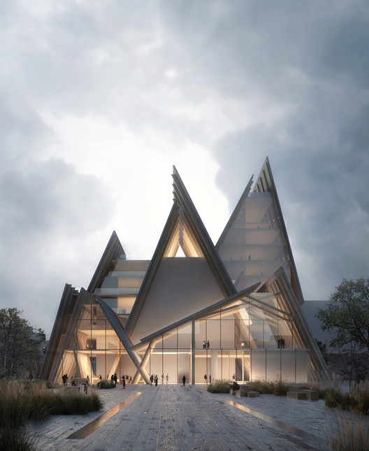 Kengo Kuma & Associates - Smyrna Church, Gothenburg, Sweden. Image © Luxigon