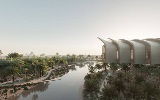 Magdi Yacoub Global Heart Centre Cairo. Image Courtesy of Foster + Partners