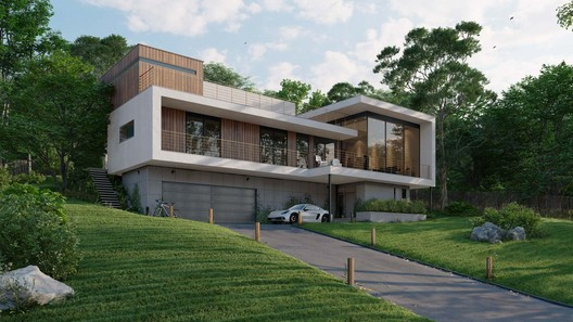 Residential exterior, rendered in Lumion 11