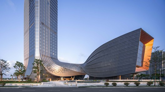 symbolize the new born of the financial new district. Image Courtesy of Aedas