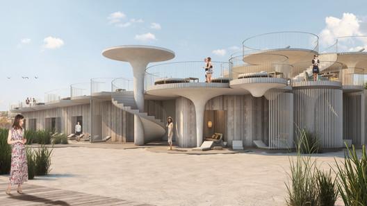 Renders by Yair Ugarte. Image © Esrawe Studio + Rojkind Arquitectos + Slade Architecture