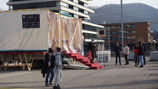 Pratteln— Mobile forum with inhabitants in Pratteln. Image © Swiss Pavilion's team of the Venice Architecture Biennale